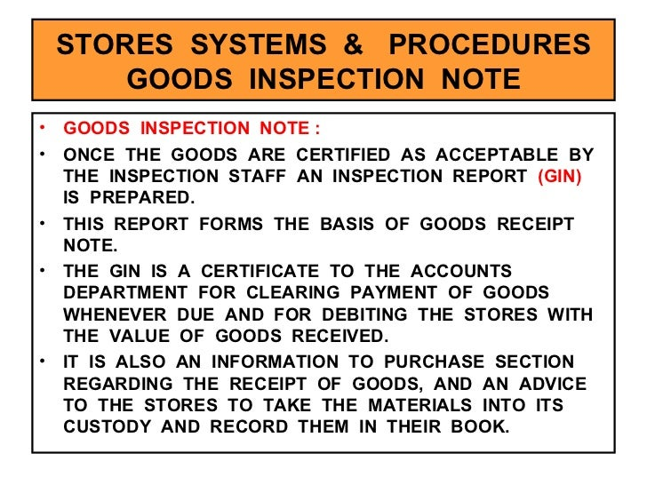 Stores Management – Goods Receipt Form