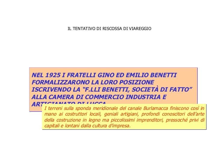 IL TENTATIVO DI RISCOSSA DI VIAREGGIO NEL 1925 I FRATELLI GINO ED EMILIO BENETTI  FORMALIZZARONO LA LORO POSIZIONE  ISCRIV...