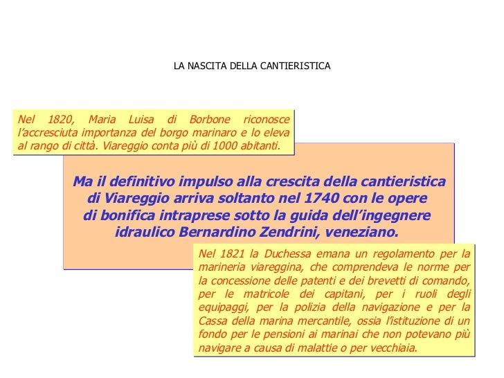 LA NASCITA DELLA CANTIERISTICA Ma il definitivo impulso alla crescita della cantieristica  di Viareggio arriva soltanto ne...