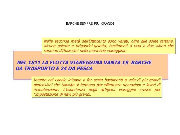 BARCHE SEMPRE PIU' GRANDI NEL 1811 LA FLOTTA VIAREGGINA VANTA 19  BARCHE  DA TRASPORTO E 24 DA PESCA  Intanto nel canale i...
