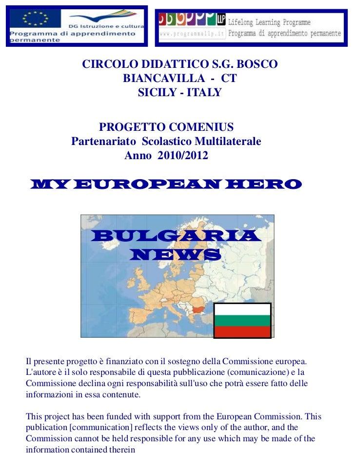 CIRCOLO DIDATTICO S.G. BOSCO                    BIANCAVILLA - CT                      SICILY - ITALY                 PROGE...