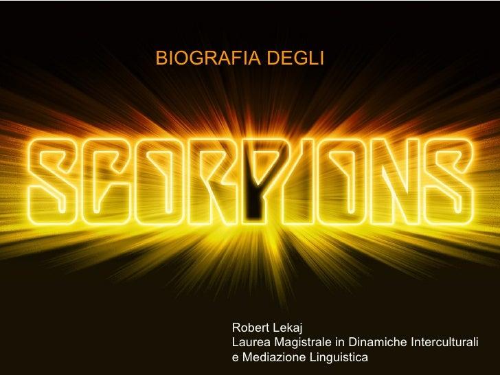 BIOGRAFIA DEGLI   Robert Lekaj Laurea Magistrale in Dinamiche Interculturali  e Mediazione Linguistica