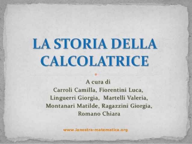 A cura di  Carroli Camilla, Fiorentini Luca, Linguerri Giorgia, Martelli Valeria,Montanari Matilde, Ragazzini Giorgia,    ...