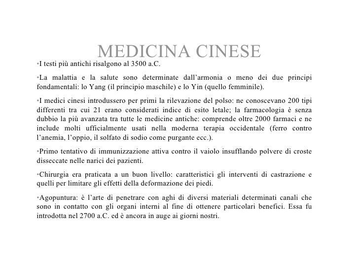 MEDICINA CINESE •I testi più antichi risalgono al 3500 a.C. •La malattia e la salute sono determinate dall'armonia o meno ...