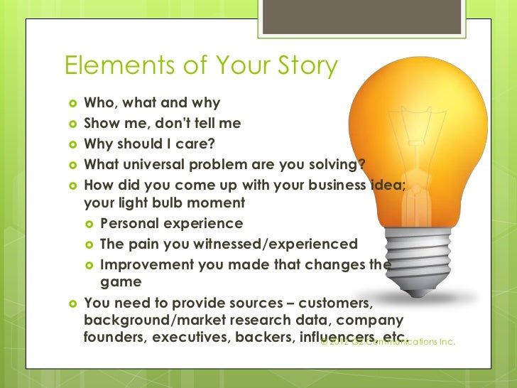 Anatomy of Stories for Public Relations