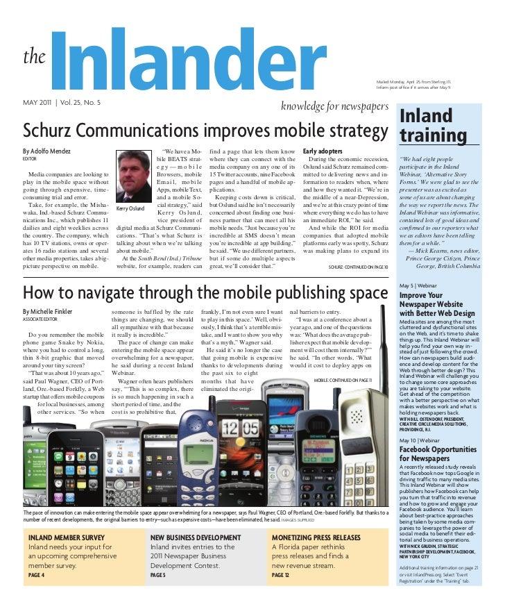 the           InlanderMAY 2011   Vol. 25, No. 5                                               Inland                      ...