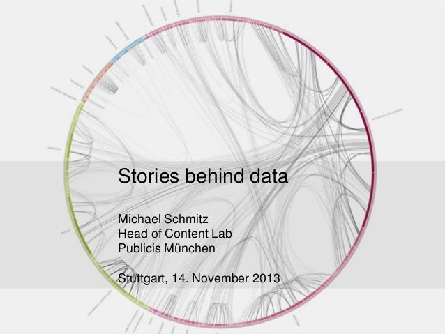 Stories behind data Michael Schmitz Head of Content Lab Publicis München Stuttgart, 14. November 2013 1