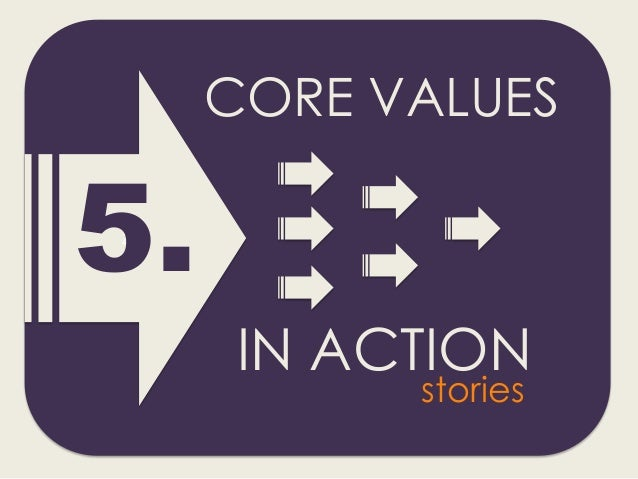 Z 5. CORE VALUES IN ACTION stories