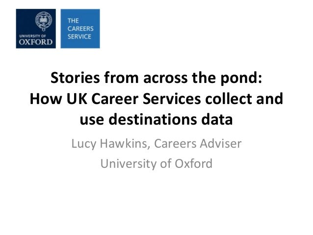 Stories from across the pond: How UK Career Services collect and use destinations data Lucy Hawkins, Careers Adviser Unive...