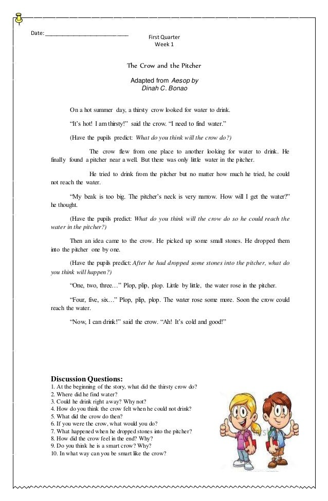 Grade Three K to 12 - Compilation of English Stories (First