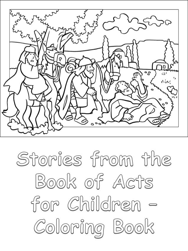 Stories From The Book Of Acts For Children Coloring Book