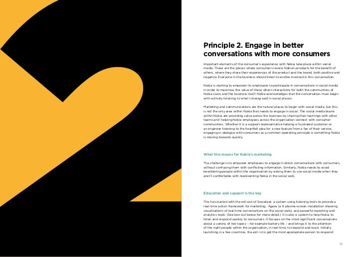 Principle 2. Engage in better     conversations with more consumers     Important elements of the consumer's experience wi...