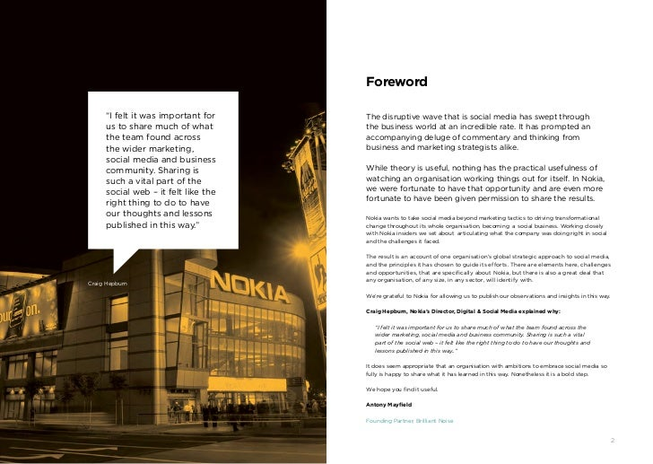 """Foreword         """"I felt it was important for    The disruptive wave that is social media has swept through         us to ..."""