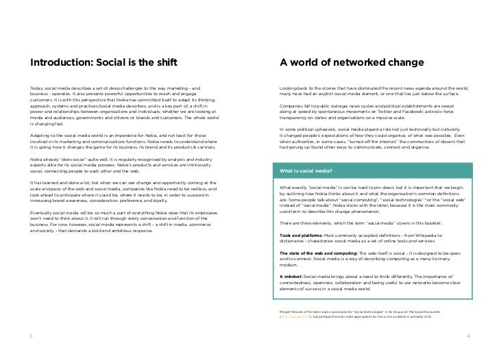 Introduction: Social is the shift                                                               A world of networked chang...