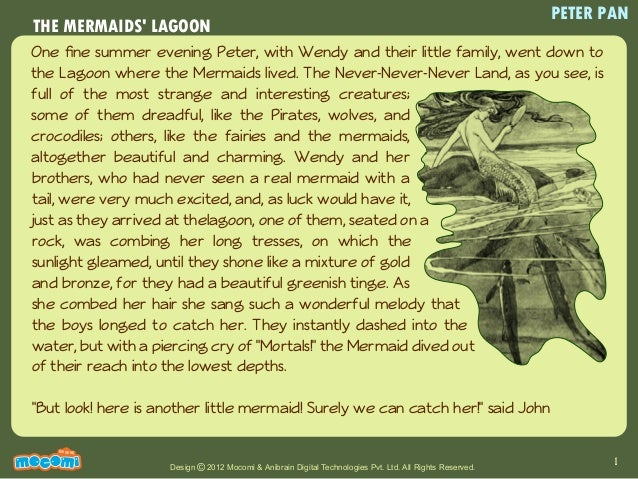 The Mermaids Lagoon Story Of Peter Pan