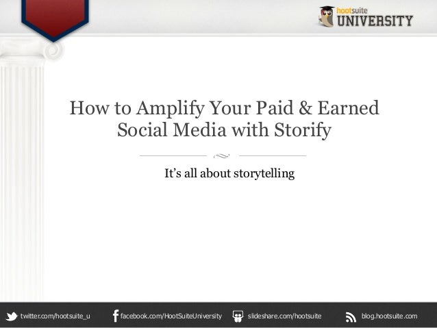 How to Amplify Your Paid & Earned                    Social Media with Storify                                       It's ...