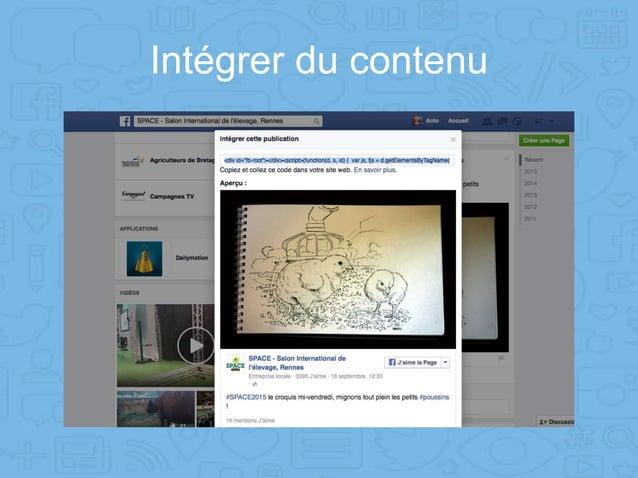 Intégrer du contenu