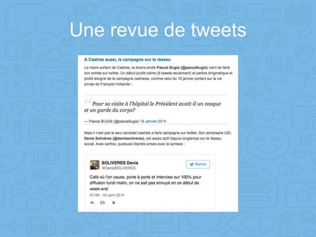 Une revue de tweets