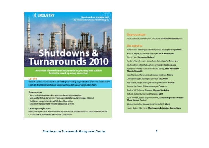 turnaround shutdown and outage management pdf
