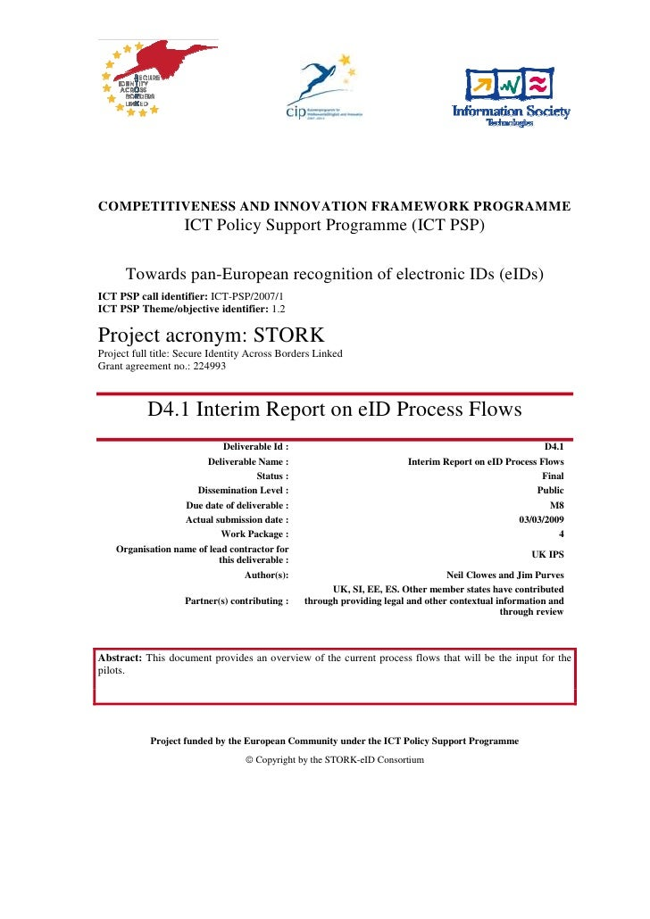 COMPETITIVENESS AND INNOVATION FRAMEWORK PROGRAMME                     ICT Policy Support Programme (ICT PSP)        Towar...