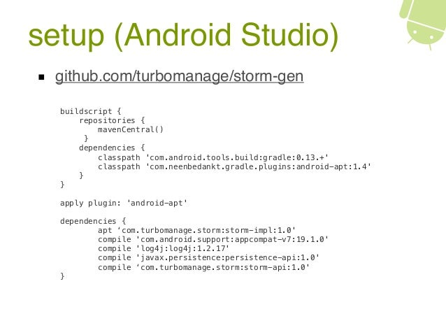 StORM: a lightweight ORM for Android SQLite