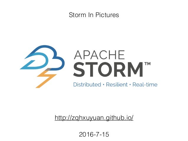 Storm In Pictures http://zqhxuyuan.github.io/ 2016-7-15
