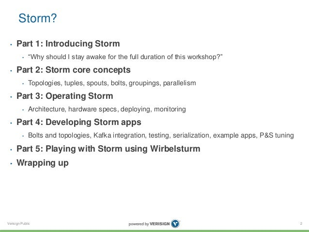 Apache Storm 0.9 basic training - Verisign Slide 2