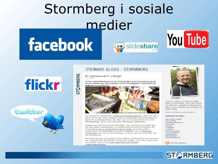 Stormberg i sosiale medier