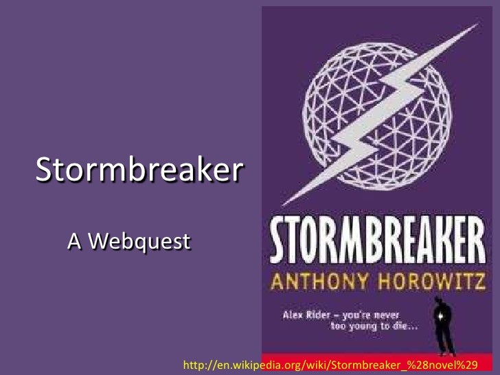 stormbreaker novel summary