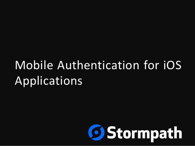 MobileAuthenticationforiOS Applications