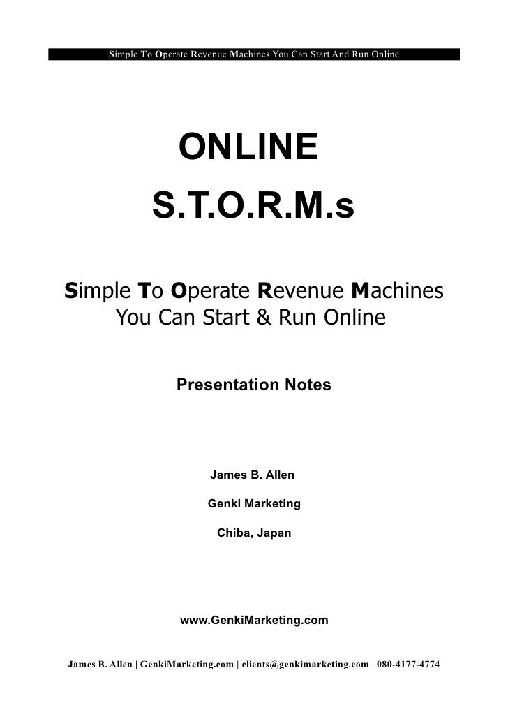 Simple To Operate Revenue Machines You Can Start And Run Online                            ONLINE                   S.T.O....