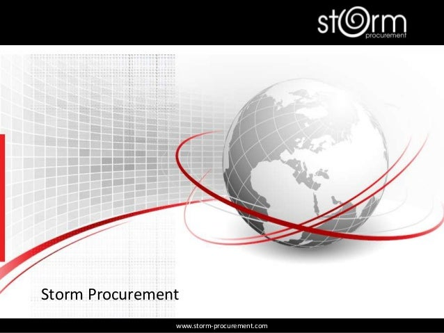 Storm Procurement www.storm-procurement.com