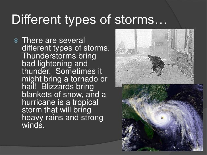 4 different types of storms