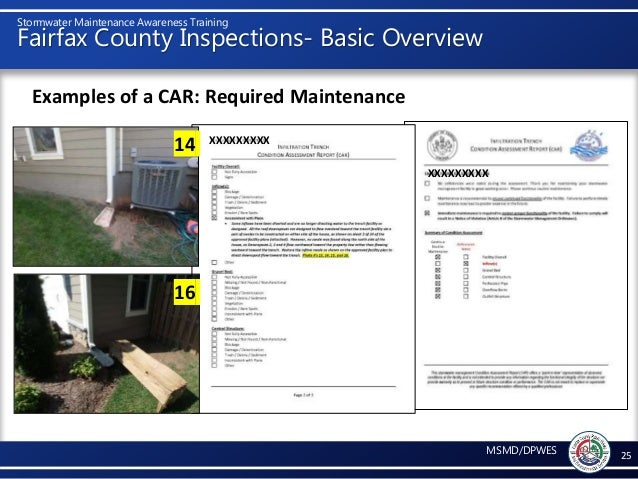 Fairfax County Car Tax >> Stormwater Maintenance Awareness Training 1