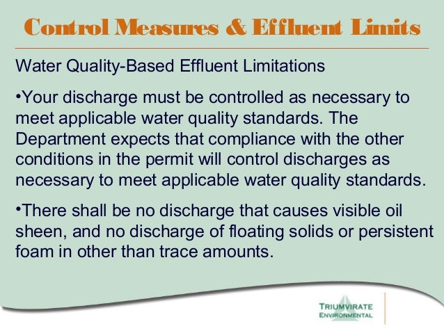 water quality based effluent limits procedures manual
