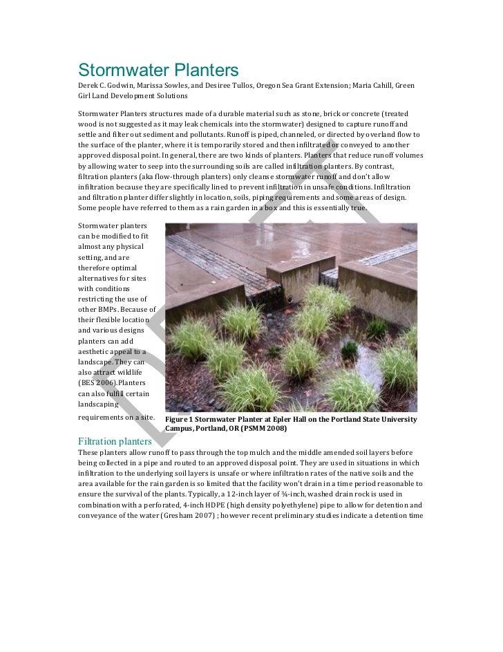 Stormwater PlantersDerek C. Godwin, Marissa Sowles, and Desiree Tullos, Oregon Sea Grant Extension; Maria Cahill, GreenGir...