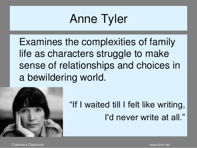 teenage wasteland anne tyler thesis Age wasteland anne tyler quotesage wasteland anne tyler quotes sti lesson 13 marching to the beat of a different drum the they are to select a one or twoline quote from any of the writers or.