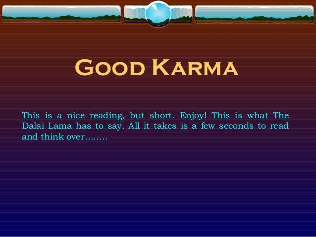 Story Good Karma