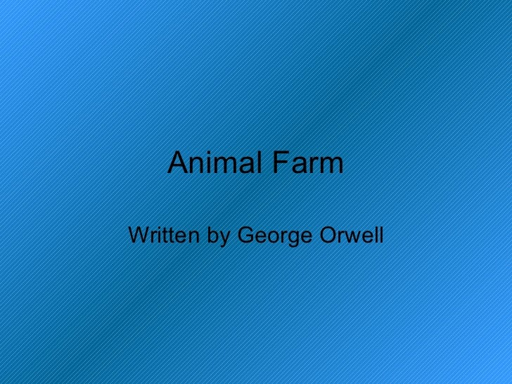 animal farm is not just about Thus, animal farm is not just an example of change but an agent of the new solidarity of the animals snowball's efforts work to an extent, since animals on other farms not only start disobeying their owners but also agitate the owners--as trotsky's ideas agitated foreign nations.