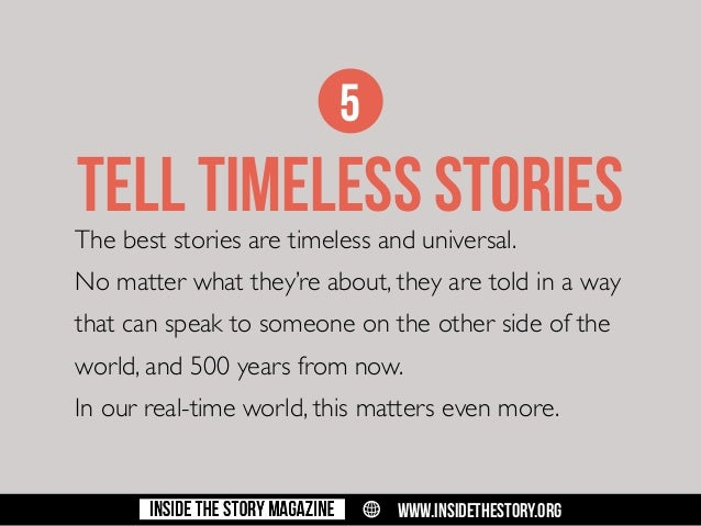 50 things you don't know about non-fiction storytelling (for journali…