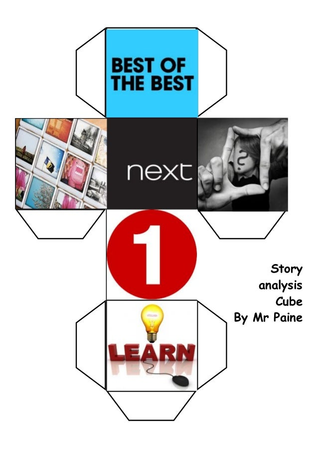 Story analysis Cube By Mr Paine