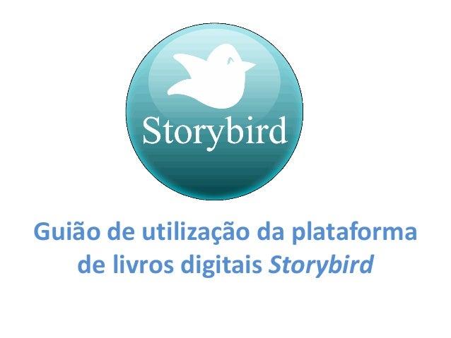 Guião de utilização da plataforma de livros digitais Storybird
