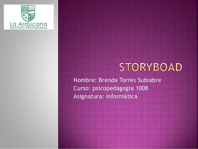 Nombre: Brenda Torres Subiabre Curso: psicopedagogía 100B Asignatura: Informática