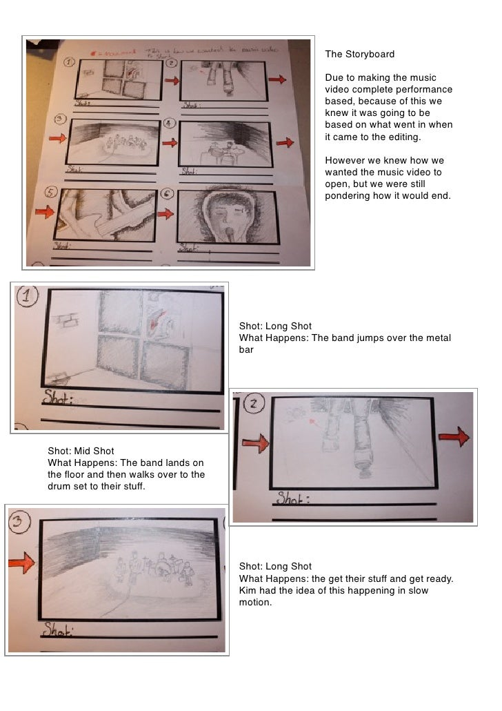 The Storyboard                                                           Due to making the music                          ...