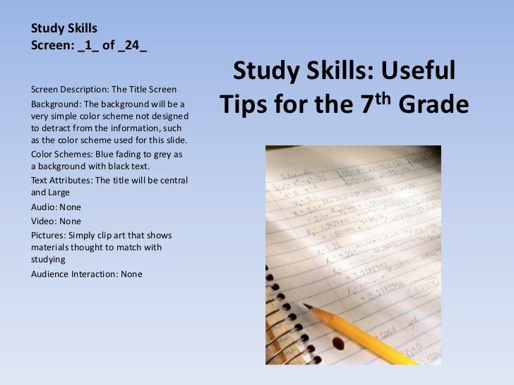 Study SkillsScreen: _1_ of _24_Screen Description: The Title Screen                                              Study Ski...