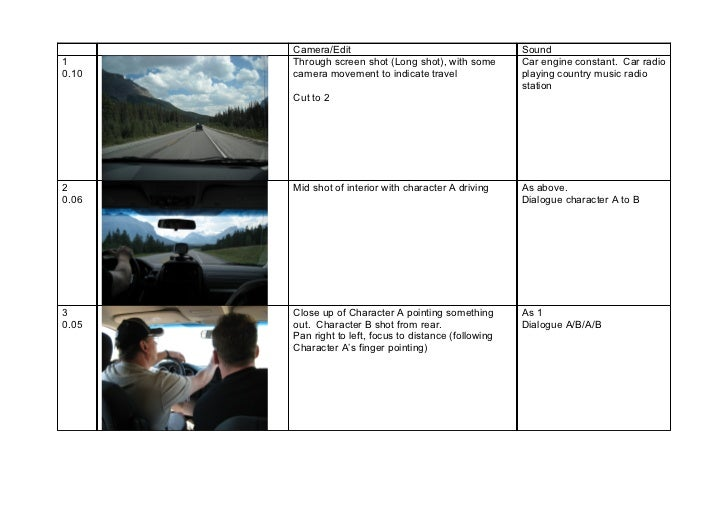 Storyboard coursework exemplar