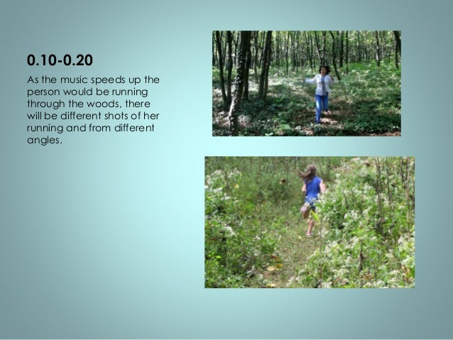 0.20-0.40  Pulling down the video  tapes one by one. It'll flicker  to her running through the  woods and the video of  in...
