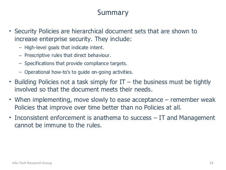 how to write a security policy