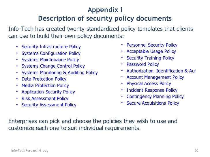 Security Policy Templates. it policies and procedures template it ...