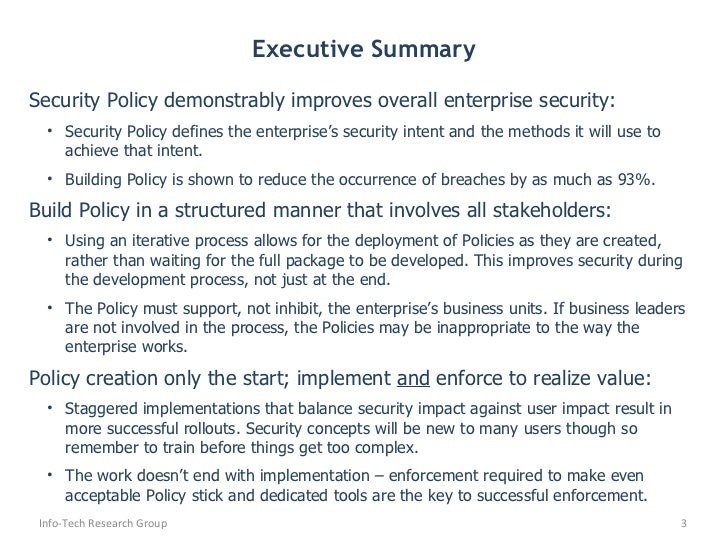 develop security policy – It Security Policy Template